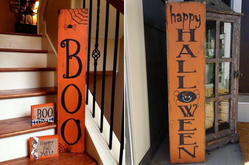 Happy Halloween welcome board