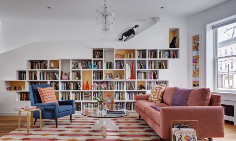 BFDO Architect designs light-filled home for bibliophiles and their felines