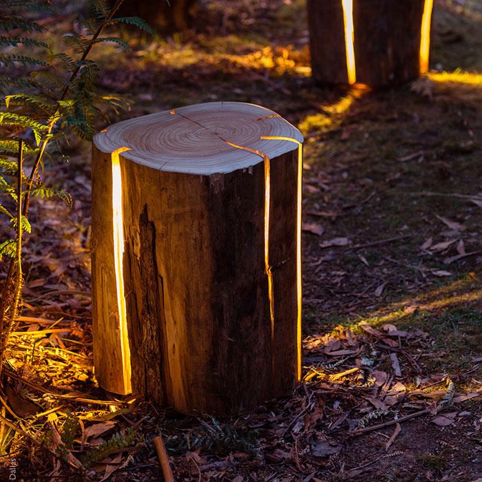 Illuminated Log stools
