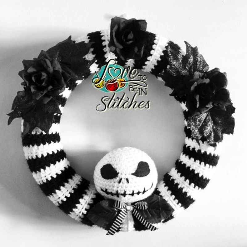 Crochet Jack Skellington Wreath