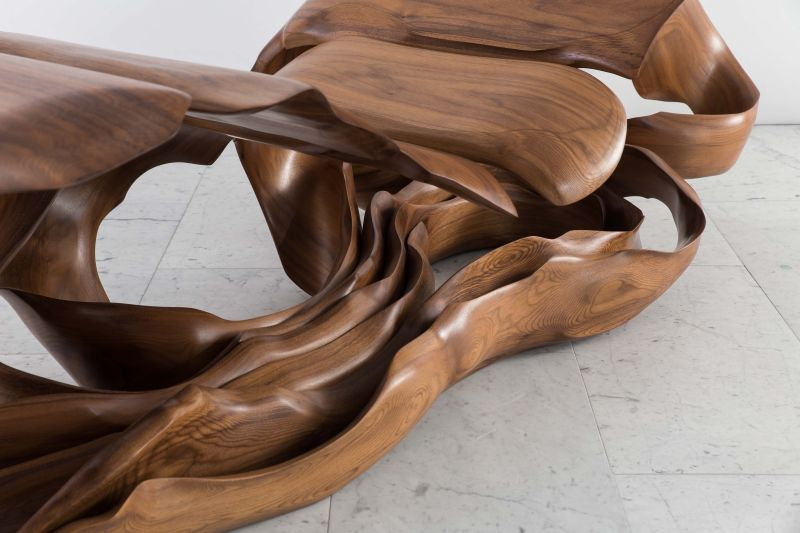 Laminaria chaise lounge is inspired by twisted seaweed forms for Art nouveau chaise lounge