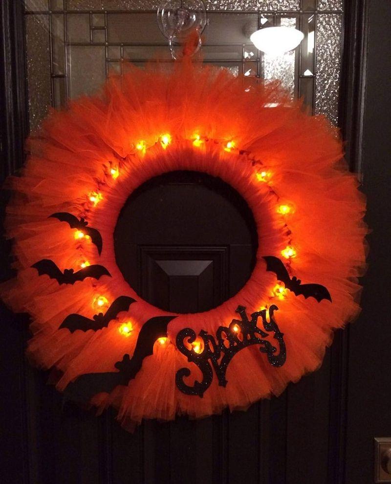 Lighted Tulle Wreath
