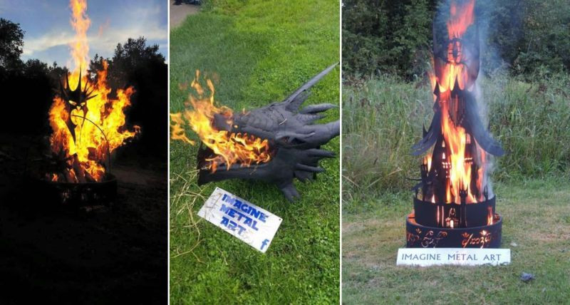 Wicked Lord of the Rings fire pits perfect for the Halloween night
