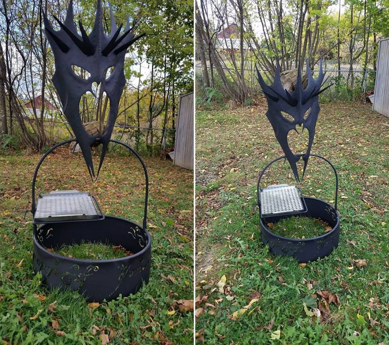 Lord of the rings Fire Pits by Imagine Metal Art