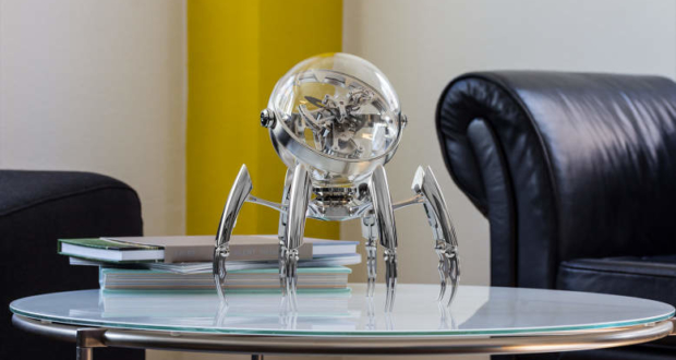 MB&F teams up with L'Epée 1839 to design Octopod table clock