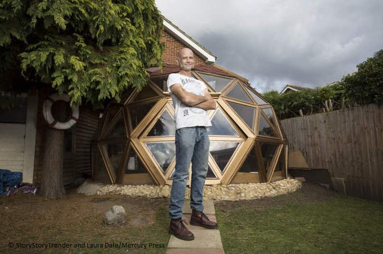 Man builds Crystal Maze-inspired geodesic glass dome for his pet tortoises