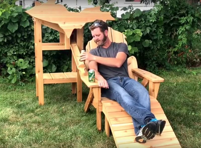 Beer Dispensing Chair By Matt Thompson Of Thompson Woodworks