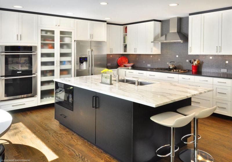 Modern kitchen countertop and kitchen islands