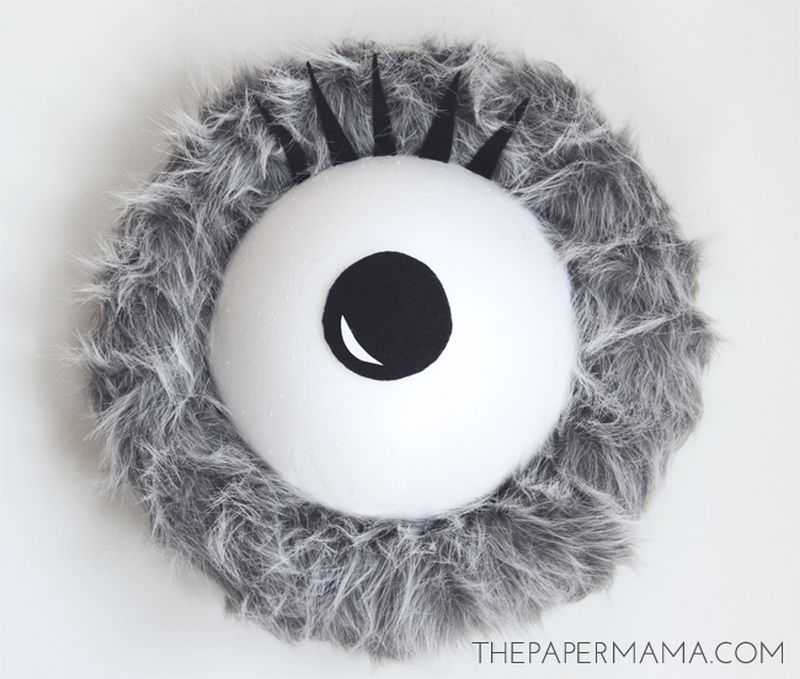 Monster Eye Halloween Wreath