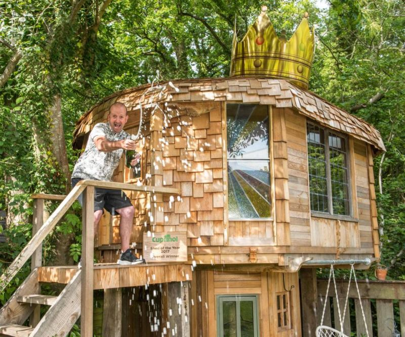 Two Story Mushroom Shaped Treehouse Named Shed Of The Year