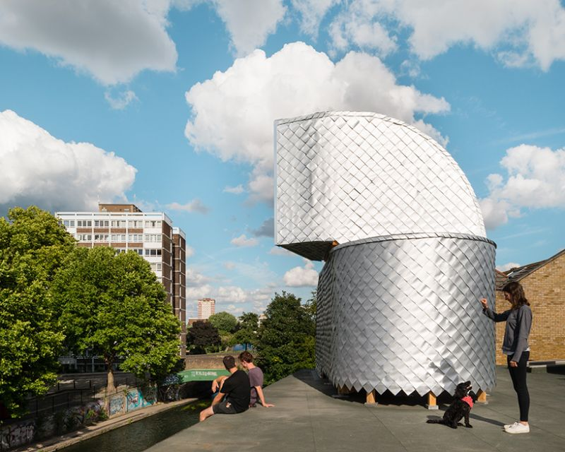 PUP Architects pop-up pavilion