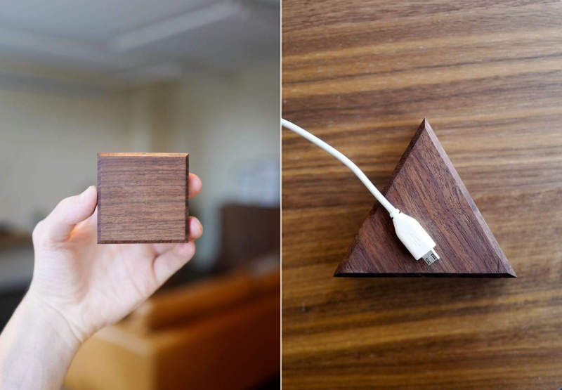 Peel Base is a magnetized cable holder