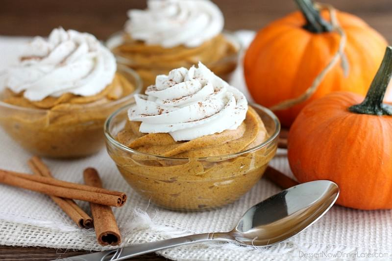 Pumpkin Mousse for Halloween