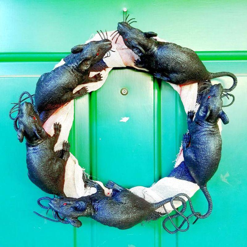 Rats Halloween Wreath