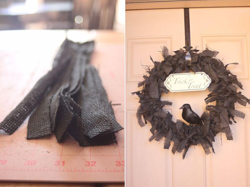 Raven Halloween Wreath