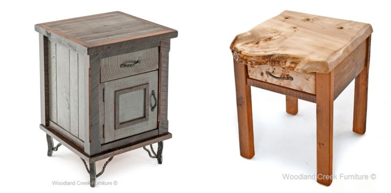 Reclaimed timber bedside table