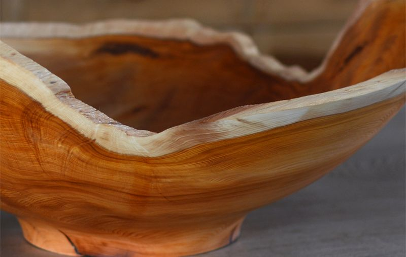 Reclaimed wood Bowl for dining table