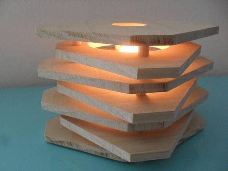 Reclaimed wooden Lamp