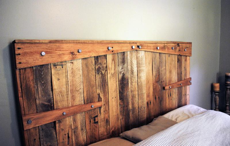 Reclaimed wood headboard
