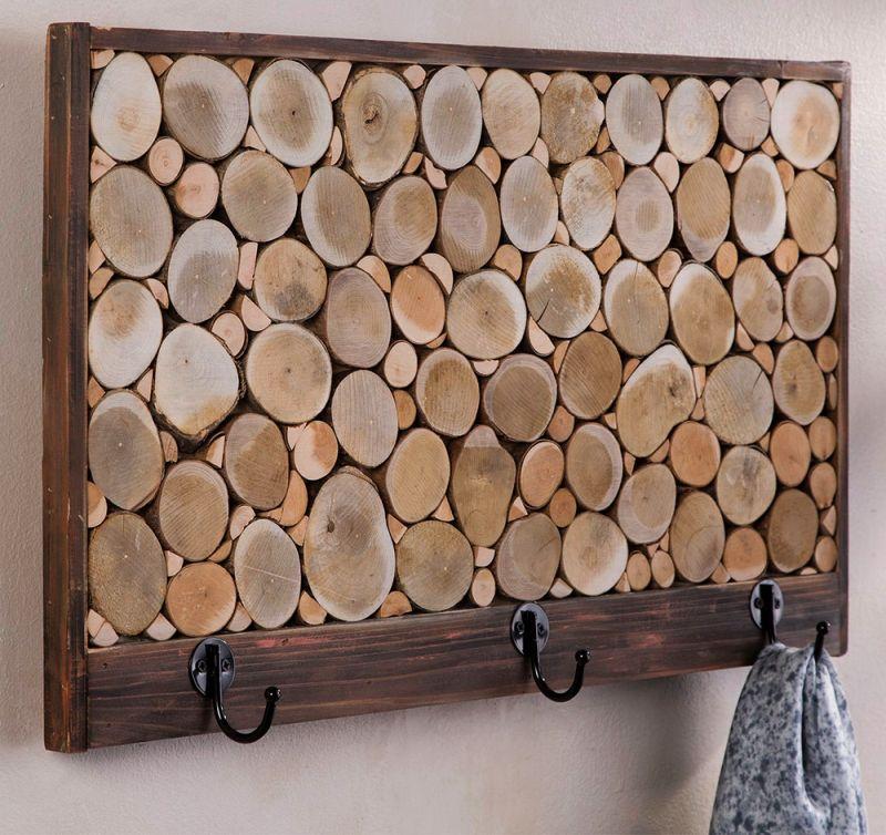 Reclaimed hardwood hooks