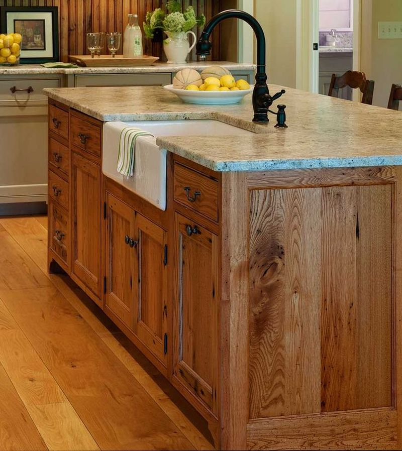 Reclaimed wood kitchen island-2