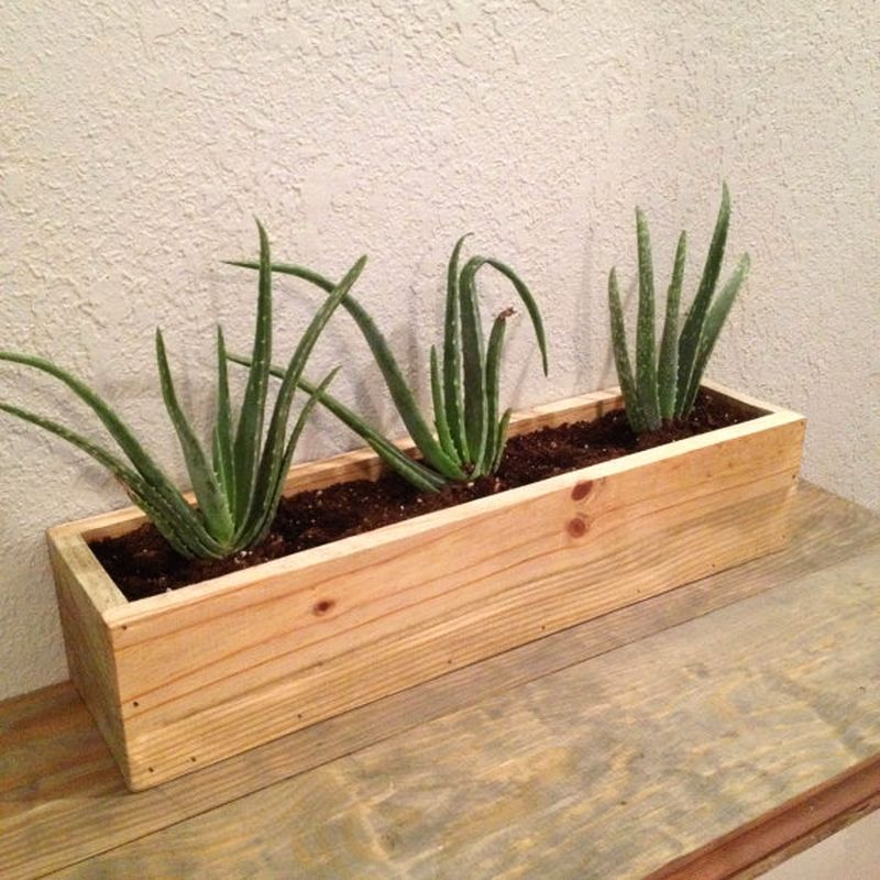 Wooden planter made of reclaimed wood