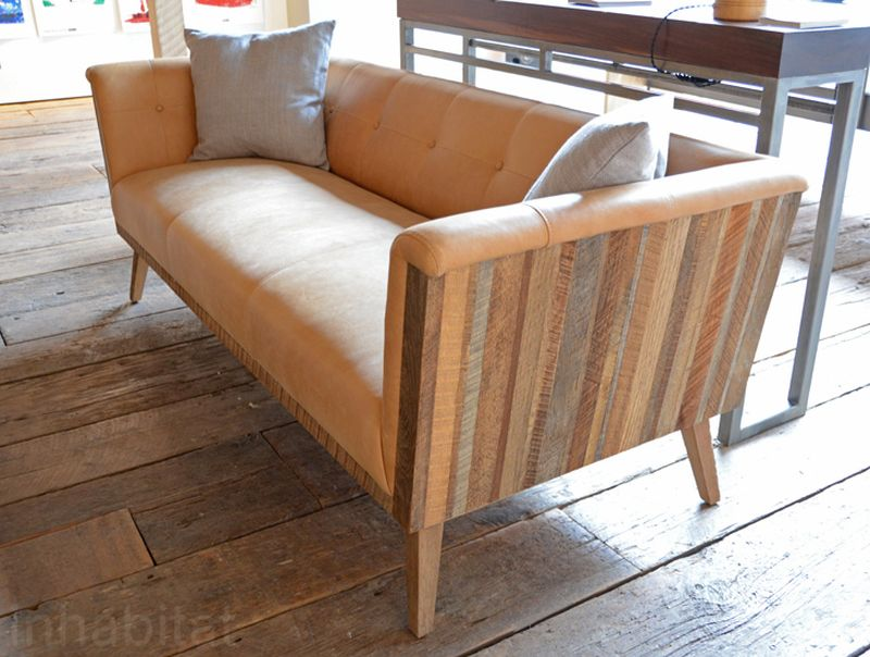 Reclaimed wood sofa set