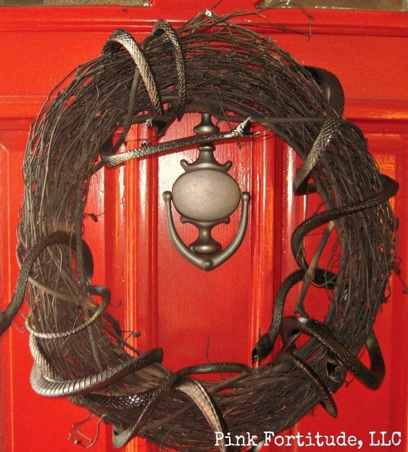 Scary DIY Snake Wreath