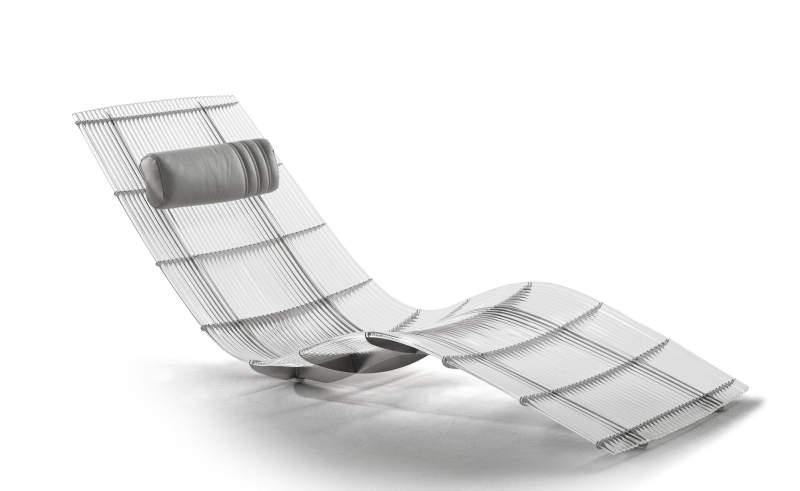 Spline acrylic lounge chair by Fritsch Durisotti for Schütz