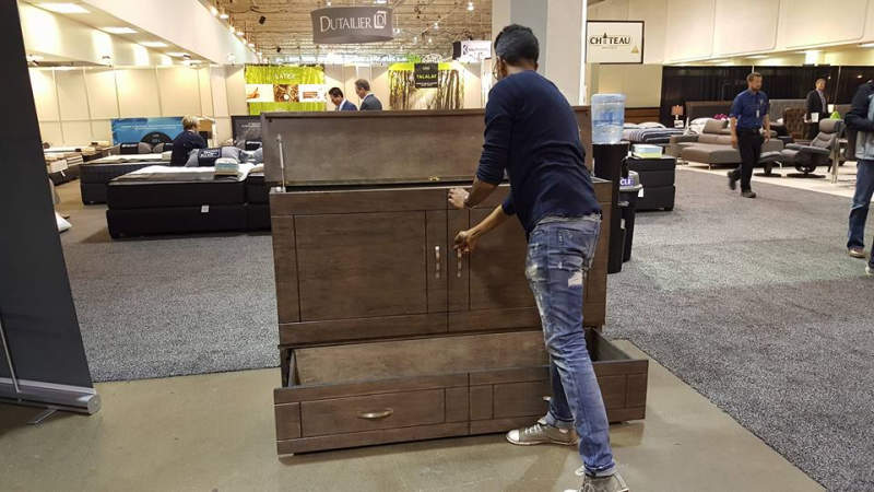 Stanley cabinet bed is a wonderful piece of Transforming furniture