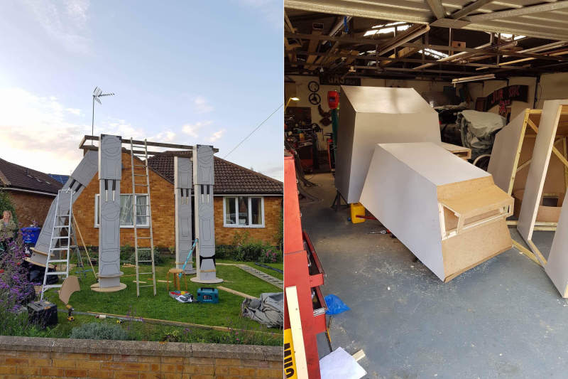 Ian Mockett builds life-size AT-AT Walker replica in his garden