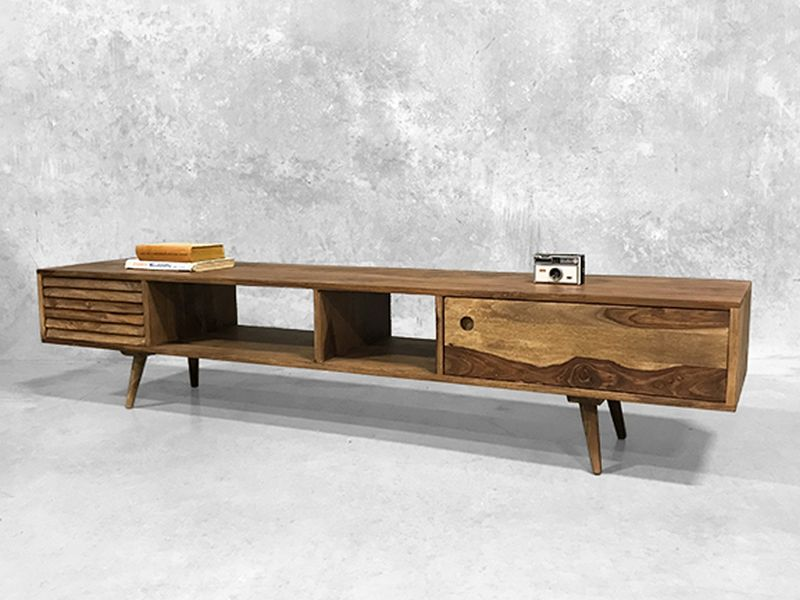 TV stand made of reclaimed wood