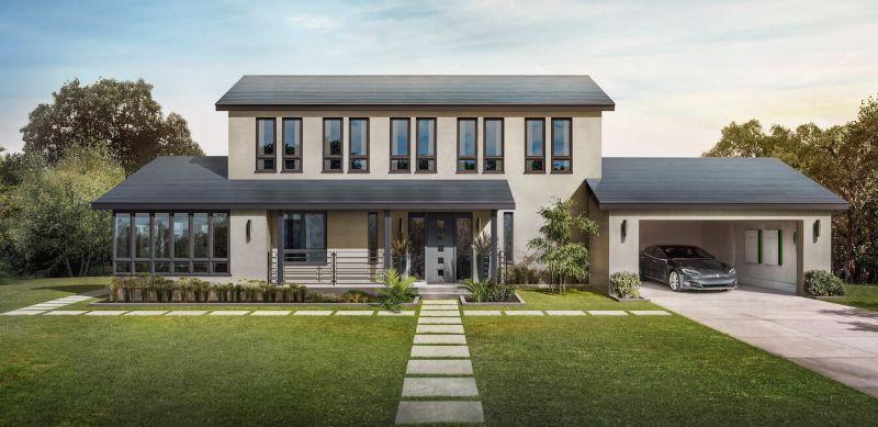 Tesla Solar Roof solar power roof tiles