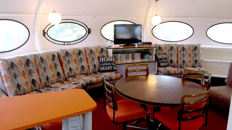 This UFO-shaped Futuro House is up for sale in New Zealand