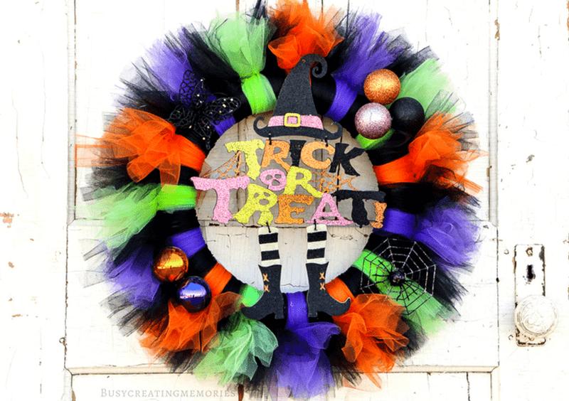 Tutu Halloween Wreath
