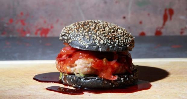 Walking-dead inspired burger