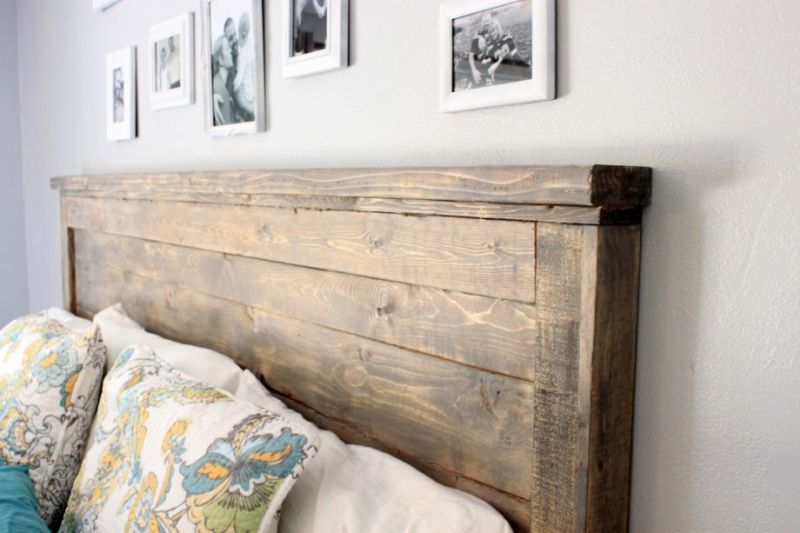 ana white diy reclaimed wood headboard
