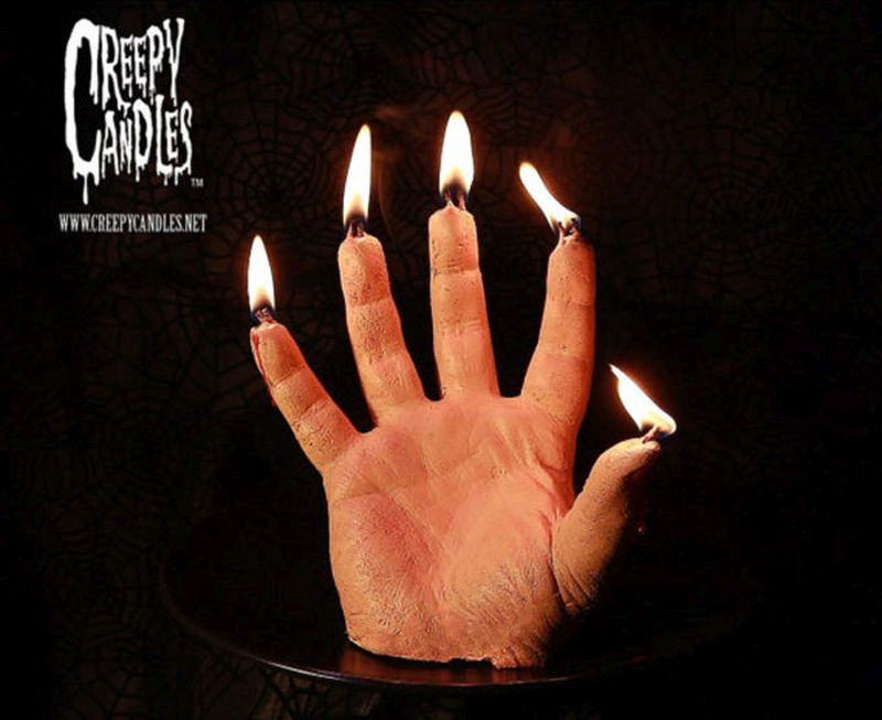 bleeding hand candles