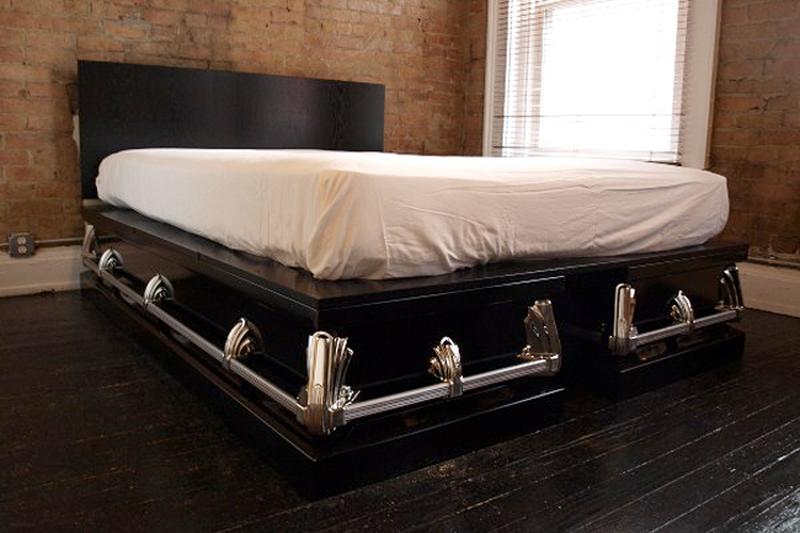 real casket furniture
