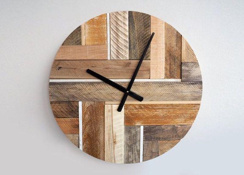 Reclaimed wood clock