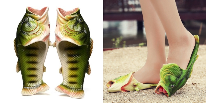 Wear these striking Fish Flip Flops for surefire attention!