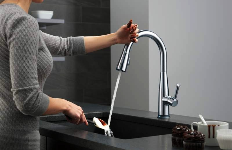 modern touchless faucet