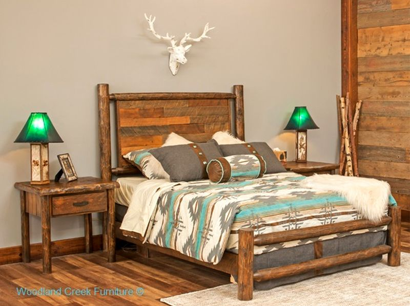 Log Reclaimed wood bed