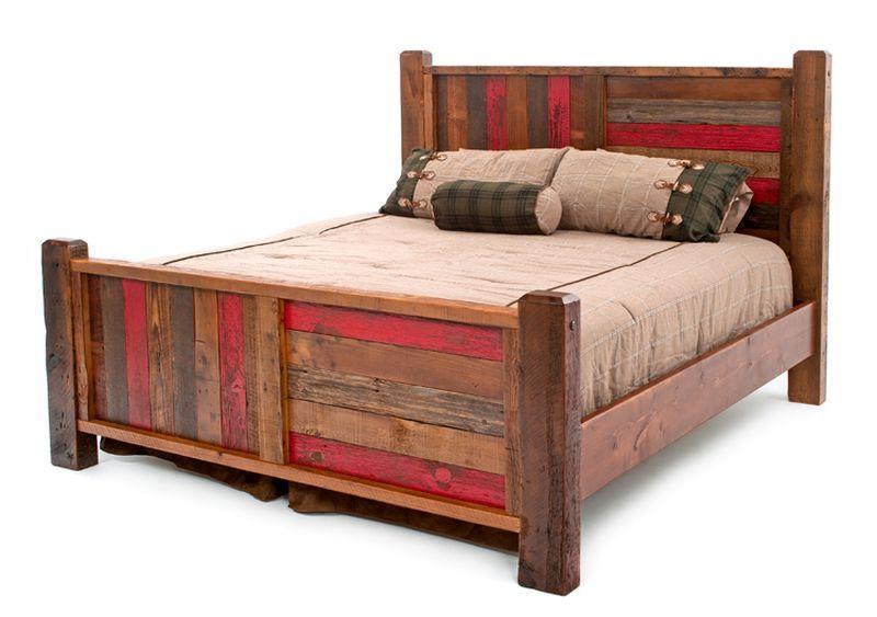 Woodland Creek Furniture reclaimed wood bed