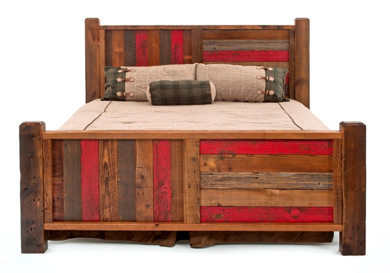 Woodland Creek Furniture reclaimed-wood bed