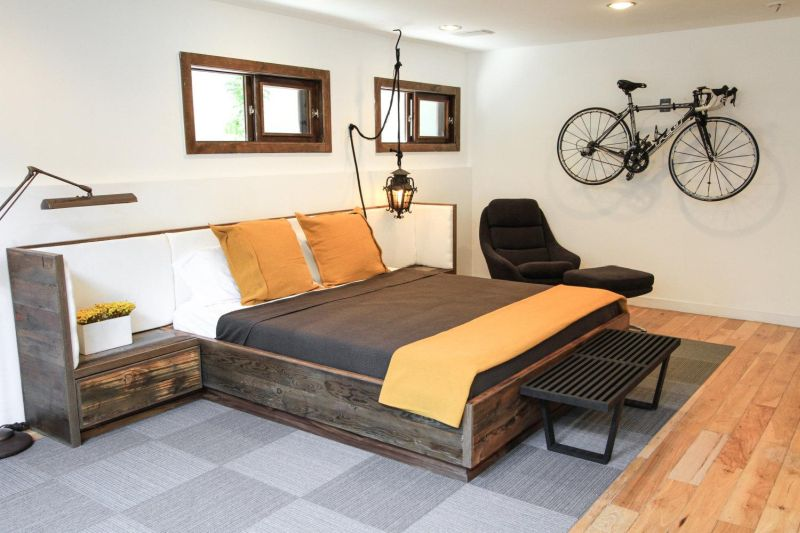reclaimed wood bed