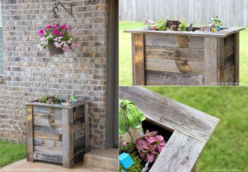 reclaimed wood planter