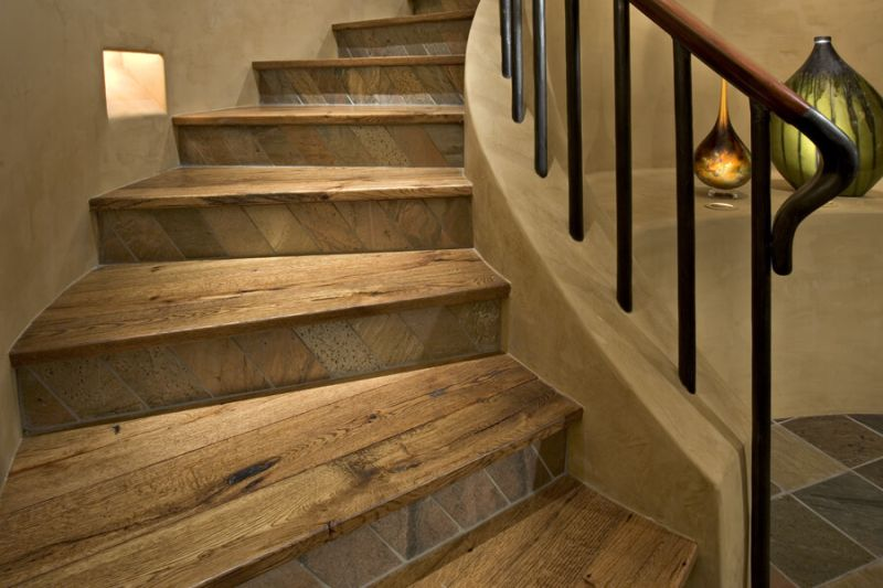 reclaimed wood staircase