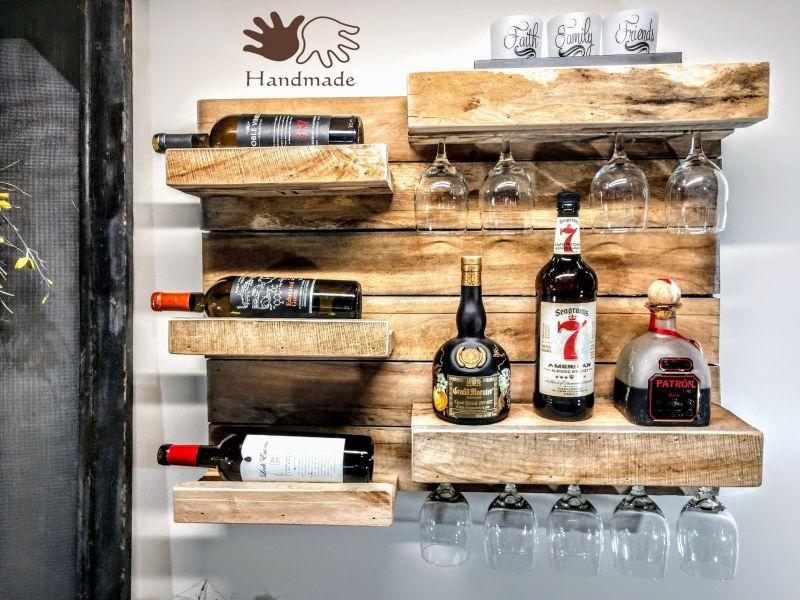 reclaimed wood wine rack