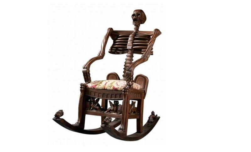 sekelton rocking chair